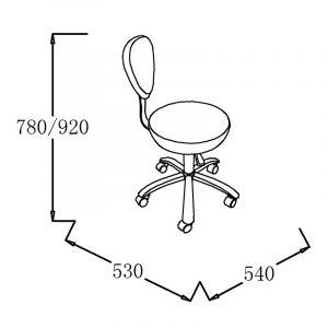 1030B3 Friseurhocker | höhenverstellbar