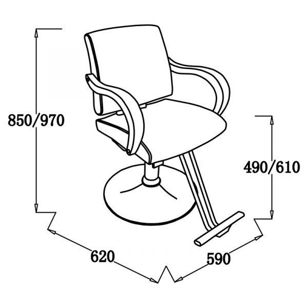 YL335B3 Friseurstuhl | höhenverstellbar