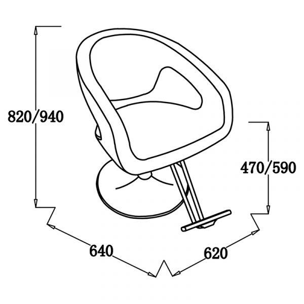 YL332B3 Friseurstuhl | höhenverstellbar