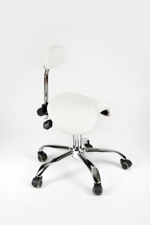 6020 Arbeitsstuhl mit kleiner Rückenlehne für die Lendenwirbelsäule