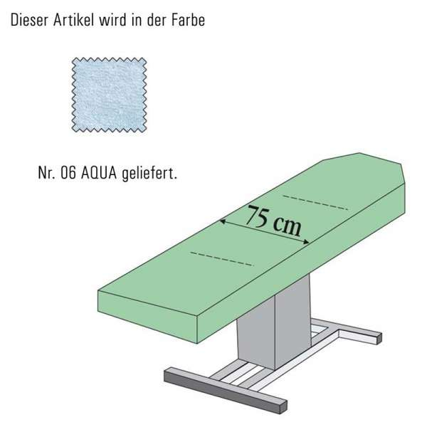 Massageliegenbezug-aqua