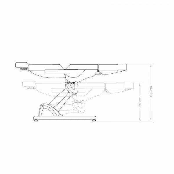 Skizze Fußpflegestuhl Antigua - höhenverstellbar