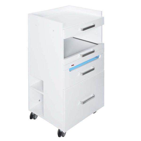 Arbeitswagen Master mit UV-Schublade - seitliche Ansicht mit geschlossenen Schubladen