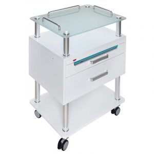 Arbeitswagen Opus mit UV-Schublade - mit eingeschaltener UV-Schublade