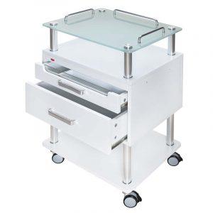 Arbeitswagen Opus mit UV-Schublade - offene Schubladen