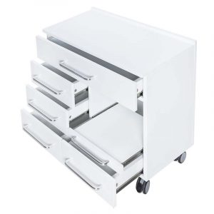 Arbeitswagen Prestige - seitliche Ansicht mit geöffneten Schubladen